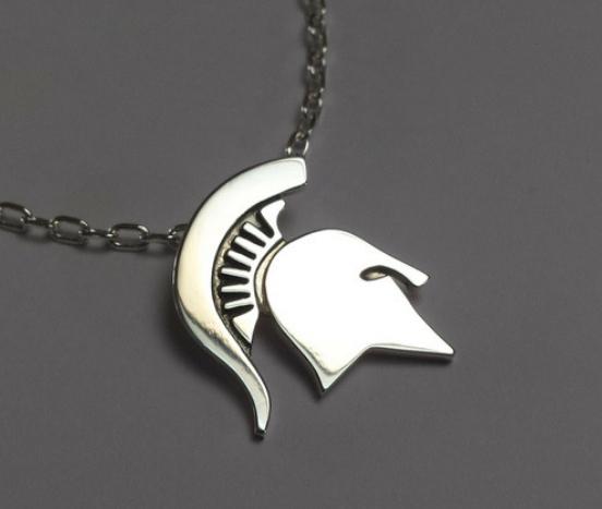 Sterling silver spartan helmet pendant