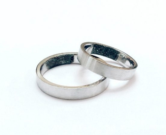 18KT. WHITE GOLD WEDDING BANDS
