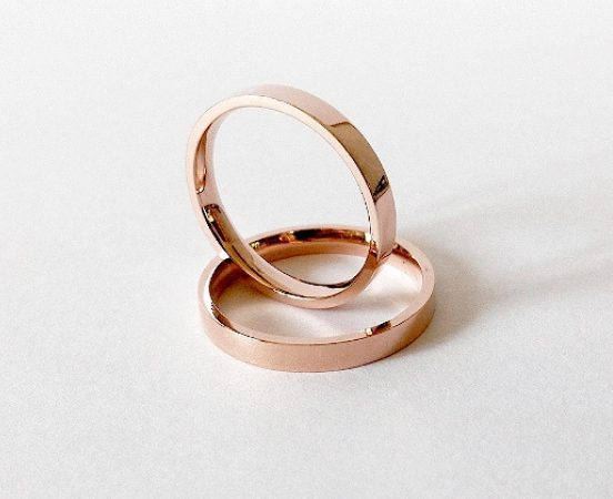 18KT. ROSE GOLD WEDDING BANDS